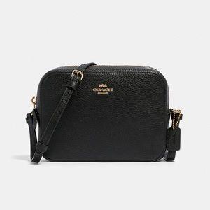 NWT Coach Mini Camera Bag In Signature Leather